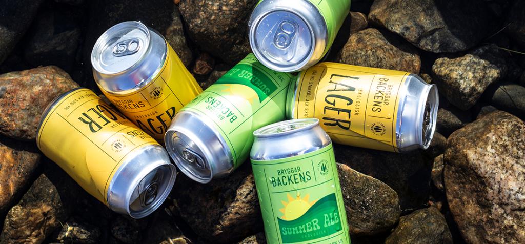 Skellefteå Bryggeri Ölsorter i vatten